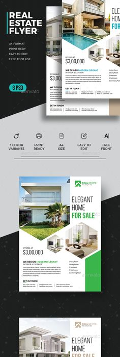Interior Design Flyer Template PSD #design Download   - interior design flyers