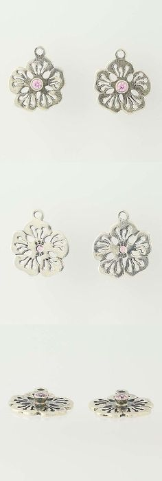 Other fine earrings 10984 pandora sterling silver sparkly earrings other fine earrings 10984 new pandora flower earrings charms 290623pcz pink cz hibiscus sterling silver mightylinksfo
