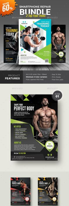 Fitness Flyer  Flyer Template Magazine Ads And Template