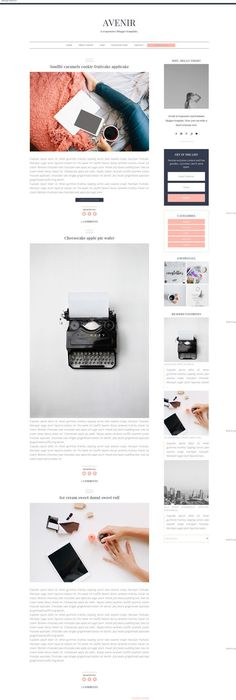 Peony Diaries A responsive Blogger template Premade, feminine