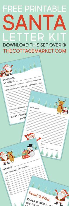Free Santa Letter  Envelope Printable  Santa Envelopes And