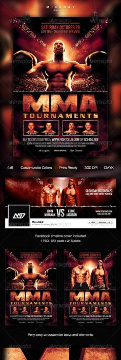 Fight Night V  Fight Night Flyer Template And Template