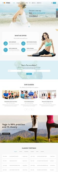 yoga website template template and website