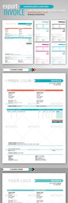 Creative Invoice Template Designs Template Creative And Business - Professional invoice template word coach outlet store online free shipping