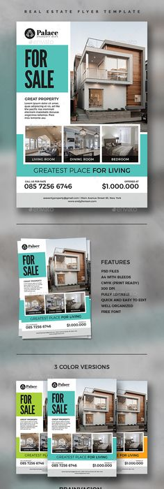 Free Real Estate Flyer Psd Template  Free Flyers
