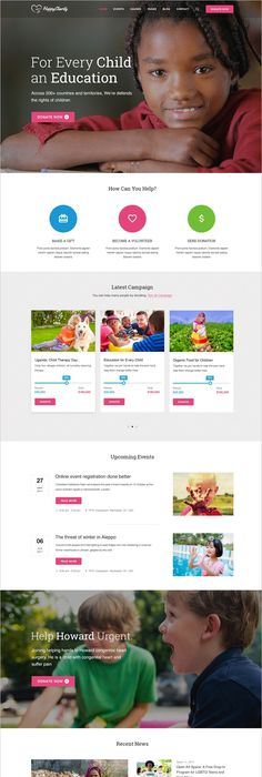 Hope Charity - One-Page Non Profit Website Template HTML Template