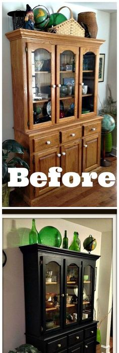 Beautiful 1990s Oak China Cabinet Makeover With Fusion Mineral Paint I Need To Buy Some