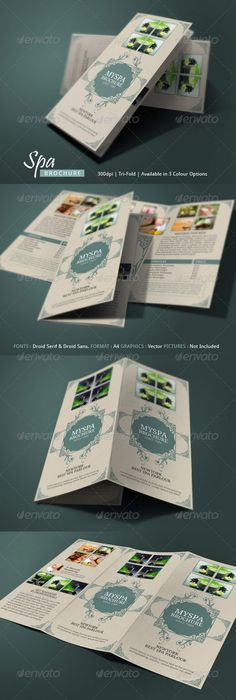 Spa Brochure  Design Ideas    Brochures And Editorial