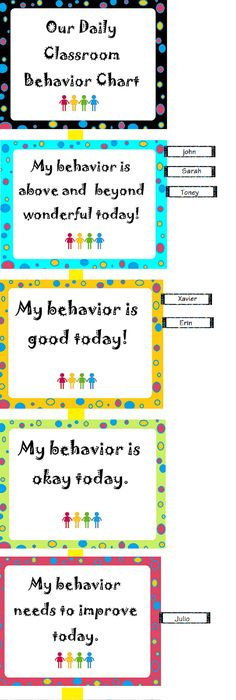 Instead Of A Huge Chart Students Will Be Able To See Behavior At