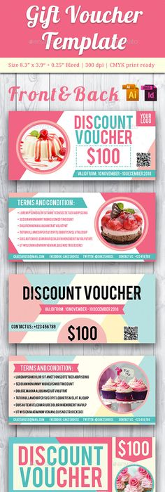 Flexible Multiuse Gift Voucher V  Template Font Logo And Fonts