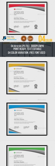 Certificate Template  Certificates Design Template Vector Eps Ai