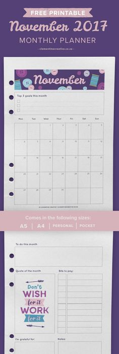Filofax Freebie  Month On Two Page Personal Pocket And