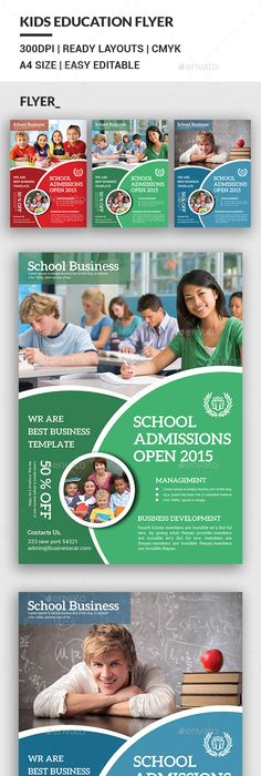 School Education Flyer Template Flyer Template Template And Brochures