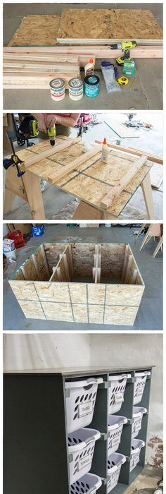 Build A Simple DIY Laundry Basket Dresser To Help Keep Your Laundry Room  Organized; Holds