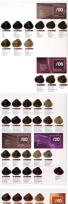 Goldwell Color Chart  Dark Hair Colors    Colour Chart