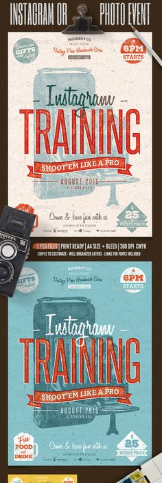 minimal flyer poster vol 3 photoshop psd template poster