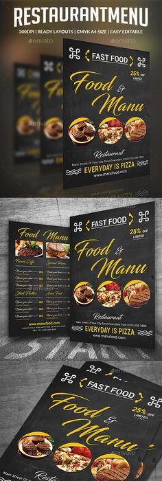 Mexican Food Menu Promotional Flyer  Mexican Food Menu