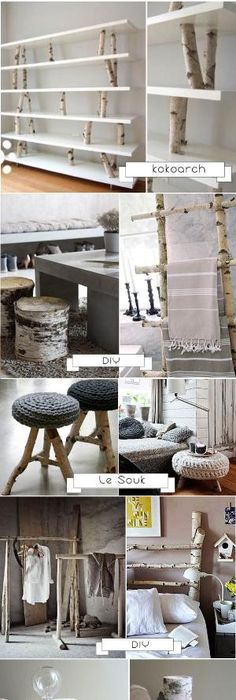 Diy decoration bouleau i love how designer elegant this looks paired with whites and yet is so easy and cheap to make one can use this to gain inspiration