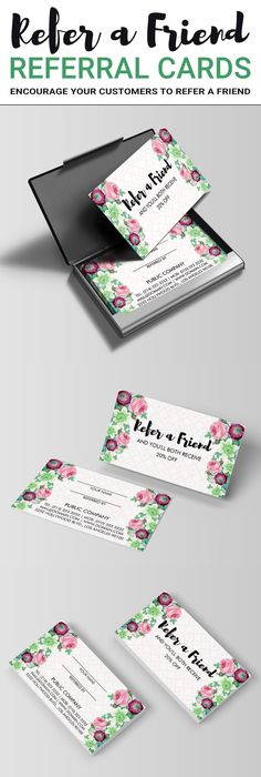 52 likes 12 comments samantha whitlow hairstuffbysam on floral flower refer a friend referral business card colourmoves