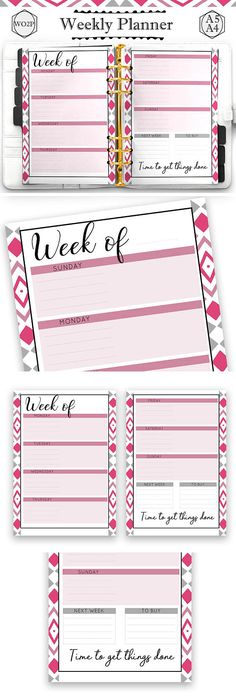 Monthly Printable Planner  Floral Planner  A Inserts