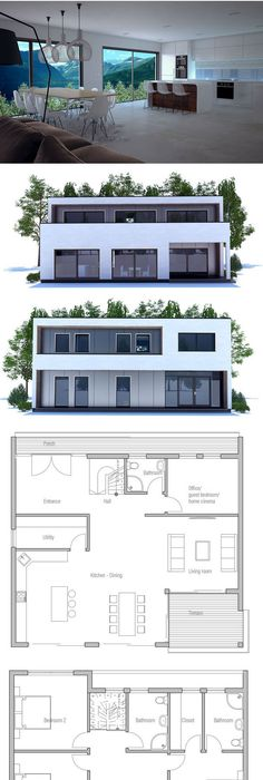 House Plan Architecture Pinterest House, Architecture and Modern