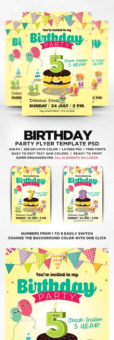 Birthday Flyer Template  Flyer Template Template And Birthdays