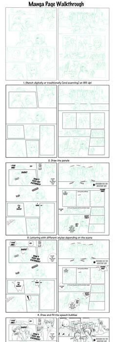 Tutorial Comic  Manga Layout Manga Art Drawing Drafting