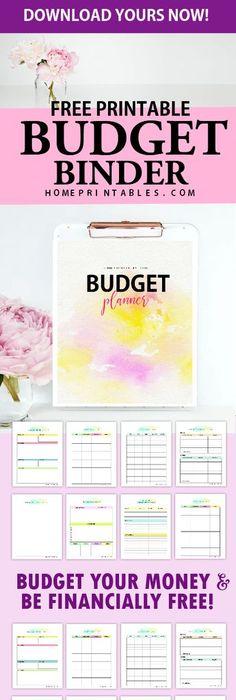 Free Printable Budget Planner  Printable Budget Planner
