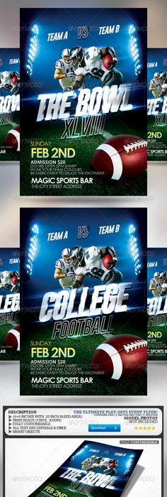 Game Time Flyer template, Event flyers and Template