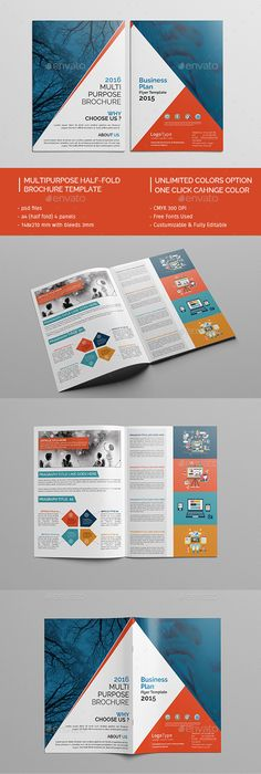 Business Consulting Brochure Template Design  Print Collateral