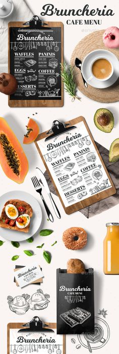 Breakfast Menu Template Creative And Modern Food Menu Templates