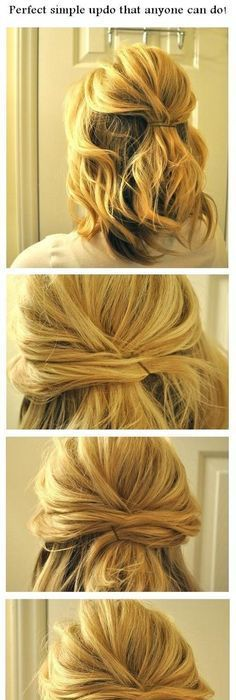 Sweet and simple | romantic and easy up do on naturally ...
