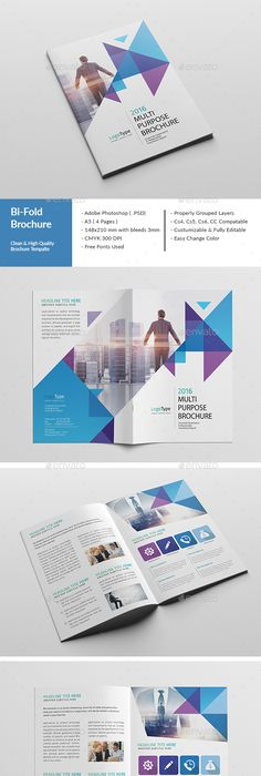 Corporate Bi Fold Brochure Brochures Photoshop And Brochure Template