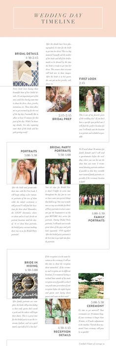 How to Create a Wedding Day Timeline (Plus 8 Sample Schedules From - sample schedules
