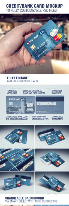 Bank Card (Credit Card) Layout u2013 PSD Template Mockups Pinterest - best of invitation template psd file
