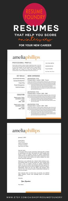 Professional Resume Template For Word  Pages    And  Page