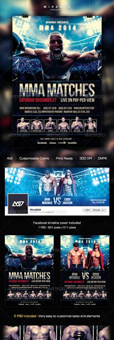 MmaUfc  Showdown Flyer Template  Flyer Template Ufc And Mma