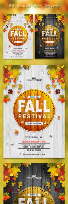 Fall Festival Flyer  Ai Illustrator Flyer Template And Illustrators