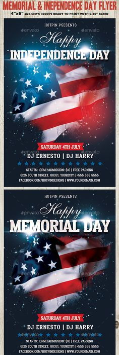Independence Day Flyer Template Flyer template, Psd flyer