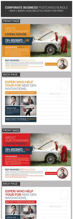 Multi Use Business Post Cards Template Design Download Graphicriver Item 12514754refksioks