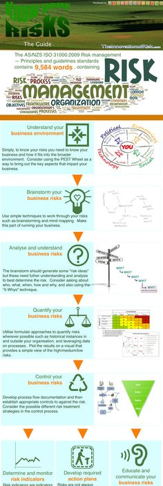 Risk Management and Risk Assessment Infographic Course material