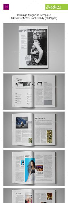 InDesign Magazine Template | Indesign magazine templates, Template ...