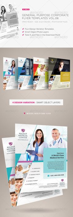 Medical Doctor Flyer Template  Corporate Flyers  Medicine Flyer