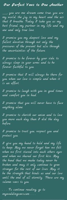 To give you the best of myself | Wedding vows, Wedding and Weddings