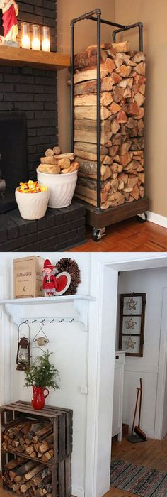 Exceptional 15 Firewood Storage And Creative Firewood Rack Ideas For Indoors And  Outdoors. Lots Of Great Building Tutorials And DIY Friendly Inspirations!    A Piece Of ... Nice Look