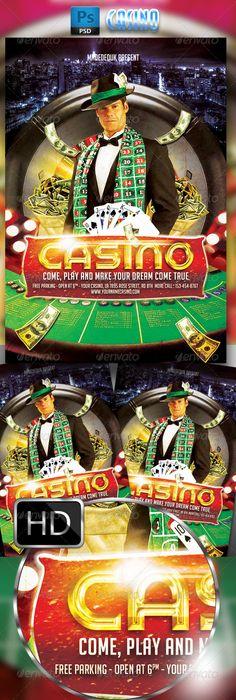 Casino Flyer Template 3 Flyer Template Template And Font Logo