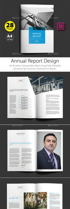 Annual Report Template  Psd Template Green Report  Download