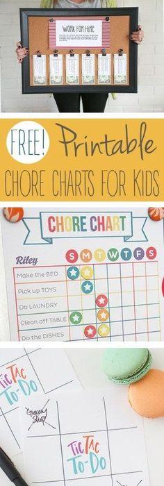 Free Printable  Chore Chart For Kids  Free Printable Chore