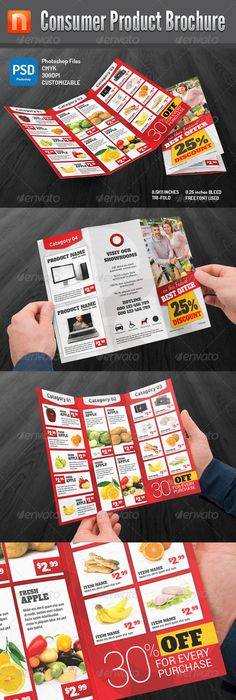 Supermarket Products Catalog Brochure Template Vol  Brochure
