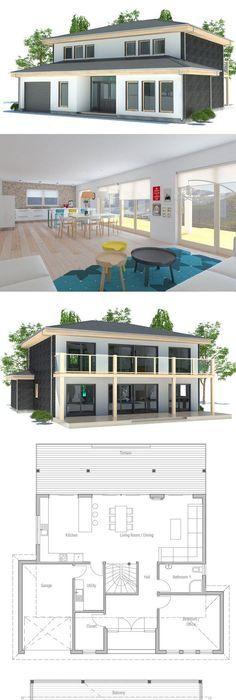 Plan de Maison maison Pinterest Sims and Architecture - maison de 100m2 plan